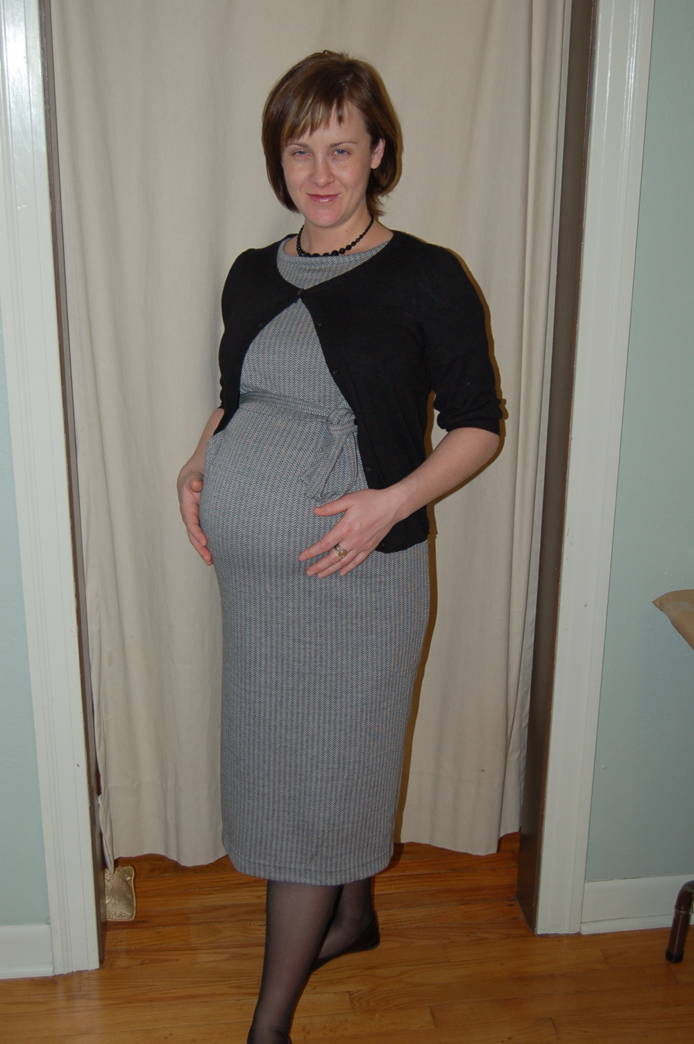 Pregnant in pantyhose
