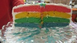 Her rainbow cake made by her Baba with love!