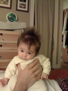 laila's baby hair awesome